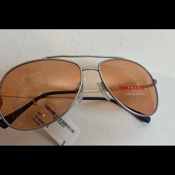 Prada Orange lens aviator sunglasses damaged